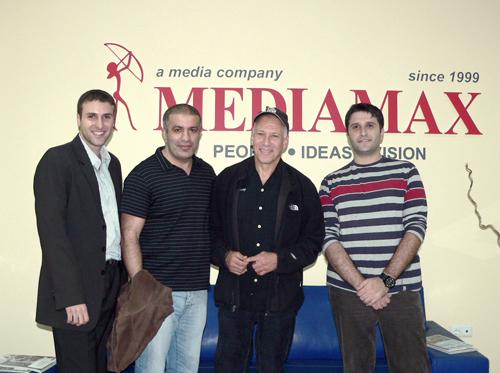 Арам Араратян, Карен Антонян, Джон Алперт (легендарный американский документалист) и Ара Тадевосян
