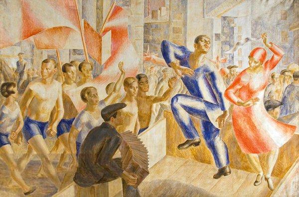 Одна из самых известных работ Елены АладжаловойАладжалова Елена Сергеевна «Праздник 1-е мая»