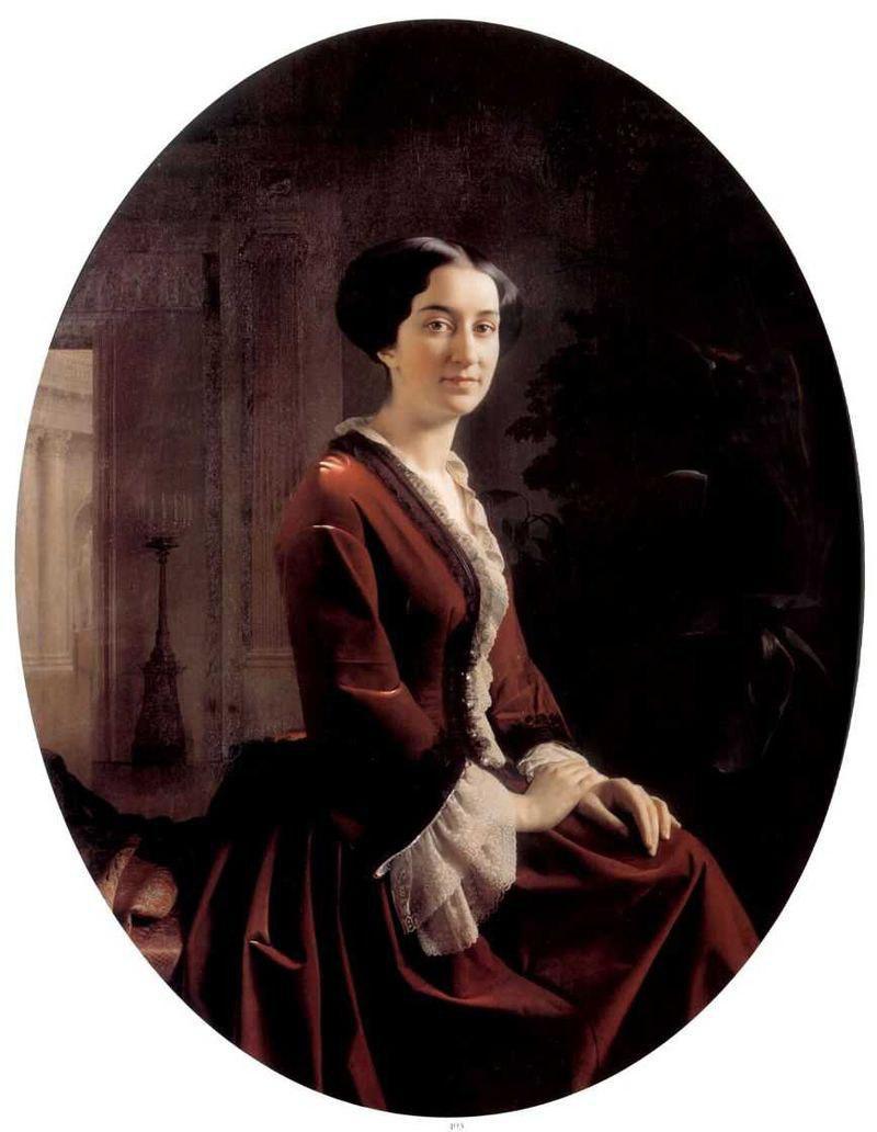 С.К. Зарянко. Портрет Елизаветы Христофоровны, 1854