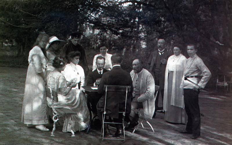 Лианозово. Дачники играют в карты, 1914 год