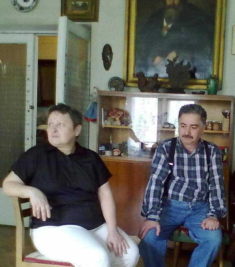 Кишинев, 2012 Елена и Рафаэль в квартире художницы Натальи Алексеевны Васильевой