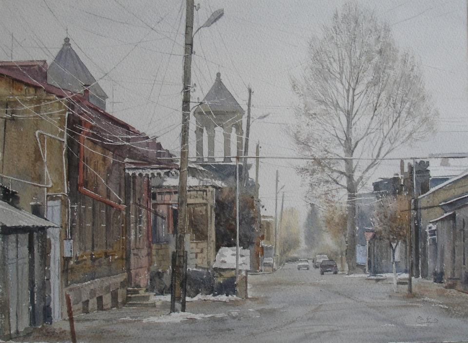 Пето Погосян. Путь домой, 29 x39cm, 2012