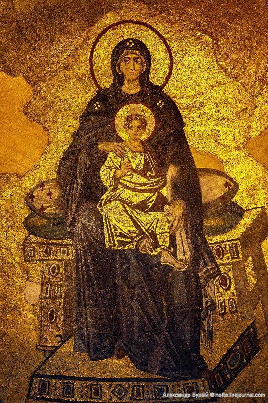 Мозаика в Святой Софии. фото Александра Бурого