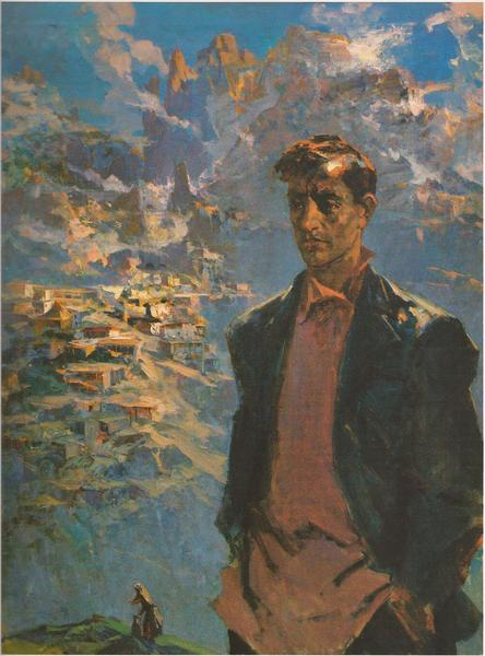 Портрет Акселя Бакунца работы Эдуарда Исабекяна (1960).