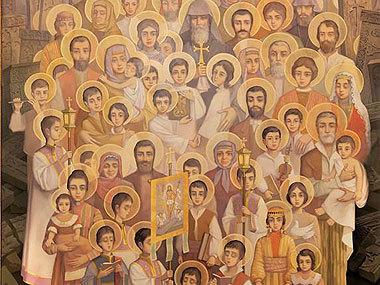 Икона Святых мучеников-жертв Геноцида армян