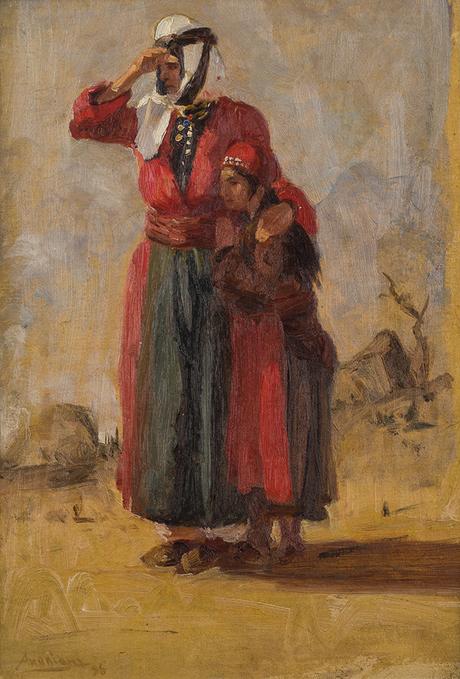 """Амаяк Акопян, """"Курдянка с дочерью"""", Ожидание 1895 Национальная галерея Армении"""