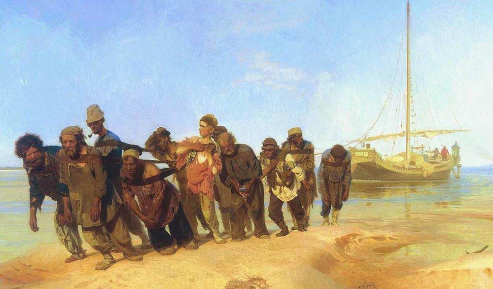 """""""Бурлаки на Волге"""", 1872-1873, Государственный Русский музей, Санкт-Петербург"""