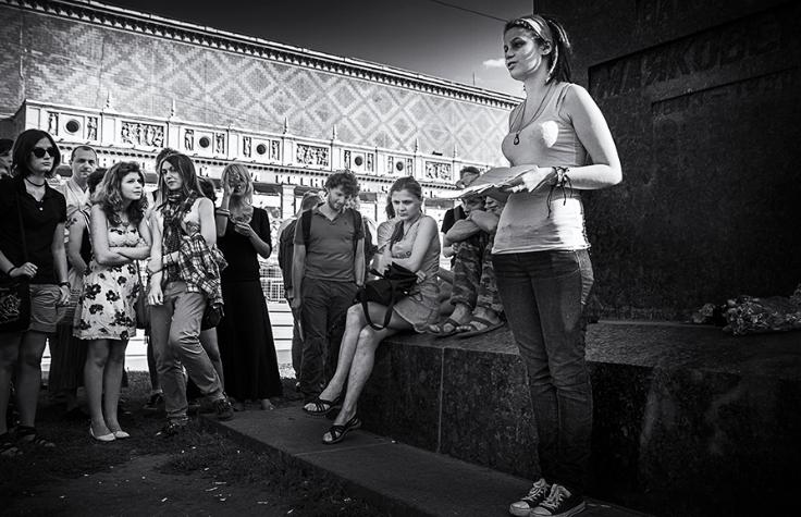 Так проходят маяковские чтения в Москве. Фото Владимира Телегина