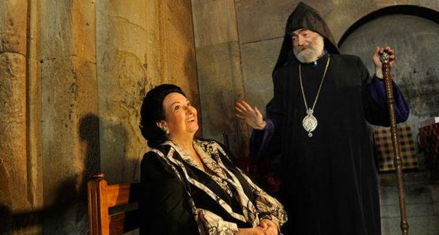 Владыка Паргев Мартиросян и испанская оперная певица Монсеррат Кабалье