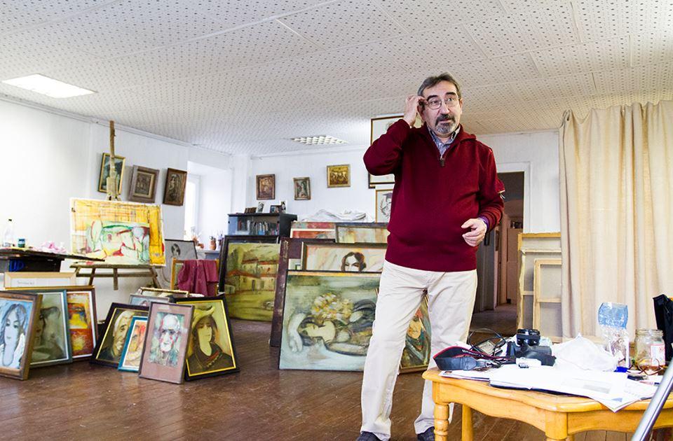 Юрий Григорян в мастерской