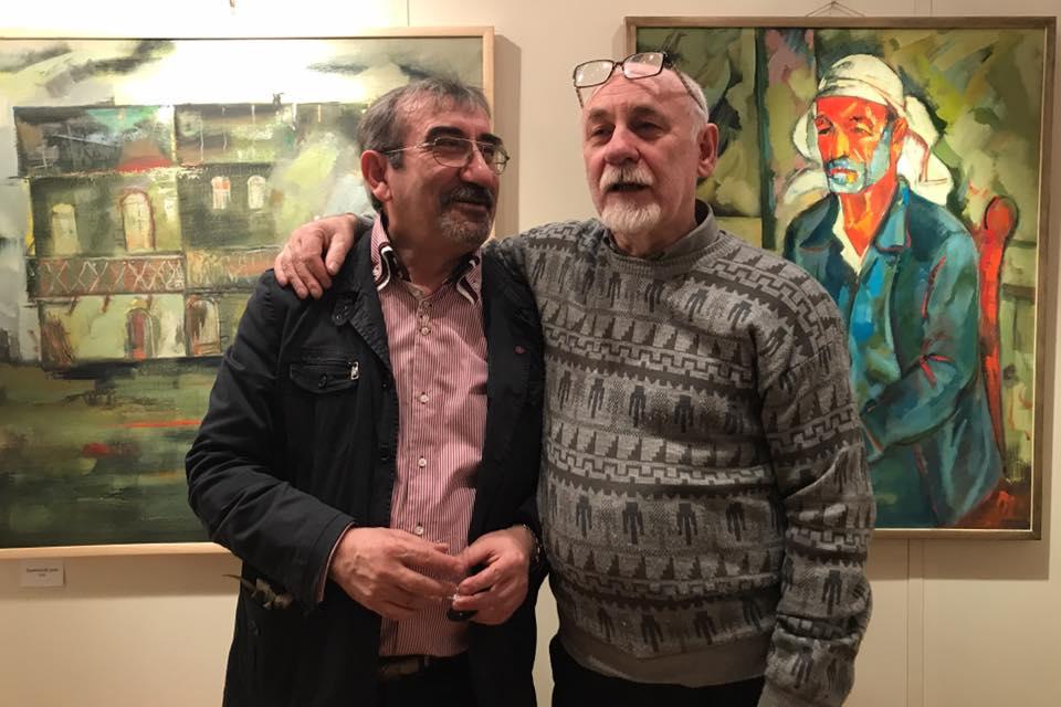 Юрий Григорян с художником Анатолием Октябрьским в Российской Академии художеств