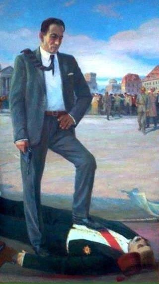 """Талаат Мехмед-паша - бывший великий визирь и министр внутренних дел Османской империи был в списках партии """"Дашнакцутюн"""" первым. Застрелен армянским мстителем Согомоном Тейлеряном в Берлине 15 марта 1921 года, в рамках операции «Немезис»."""