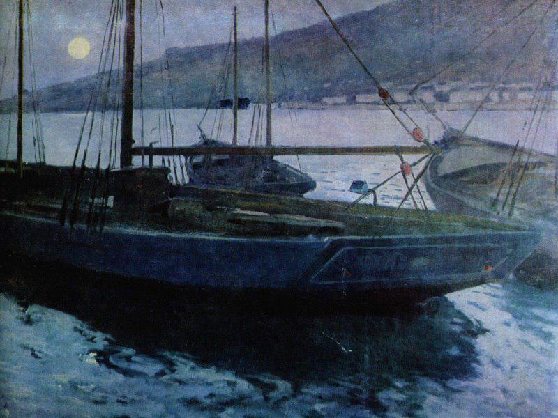 Михаил Латри. Восход Луны, 1890-е