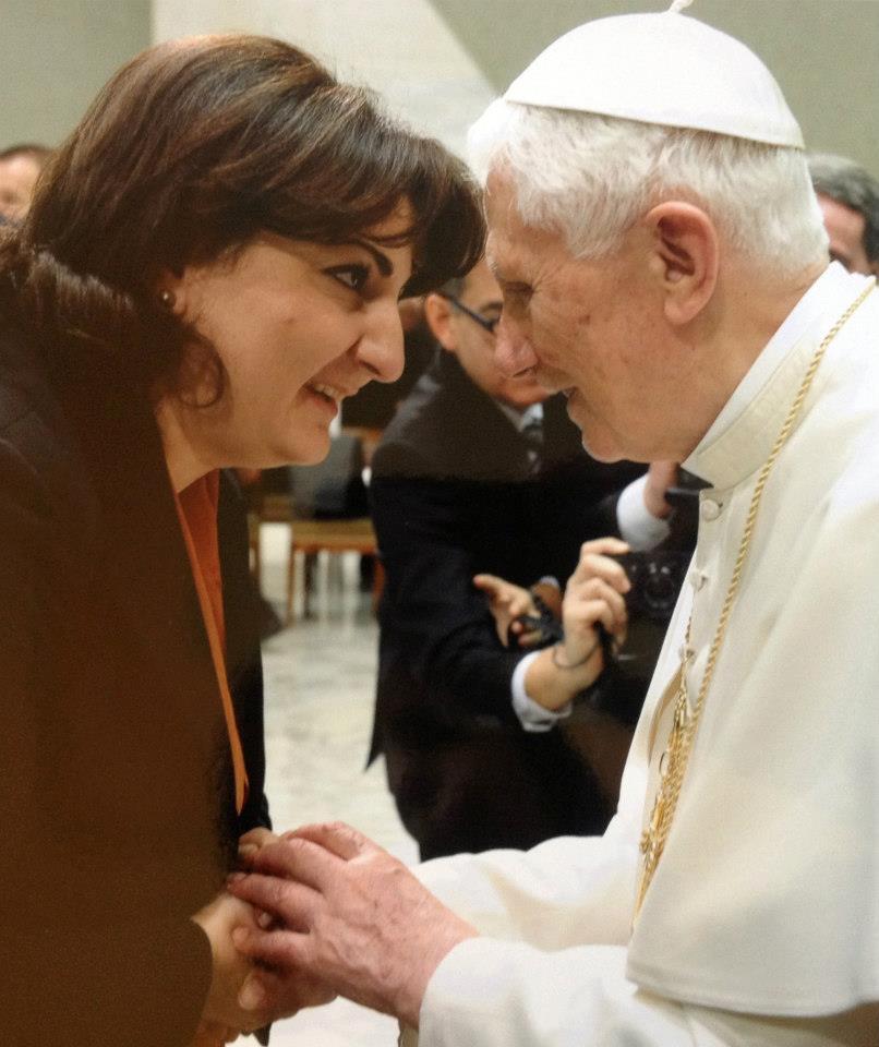 Валентина и Папа Бенедикт XVI