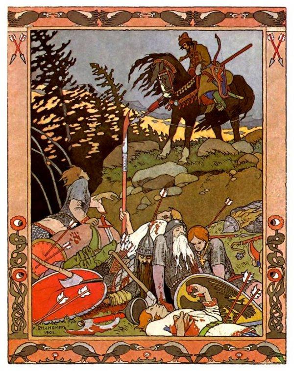 Иван Билибин проиллюстрировал сказки «Царевна-лягушка», «Пёрышко Финиста – Ясного сокола», «Морозко», «Морской царь и Василиса Премудрая».