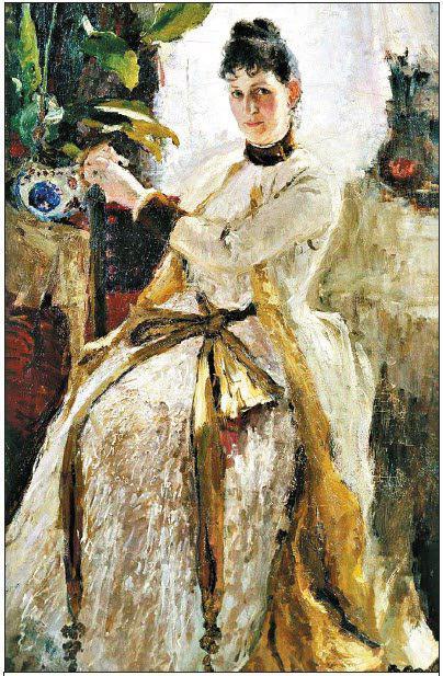 К.А. Коровин. Портрет княгини Софии Николаевны Голицыной, 1886
