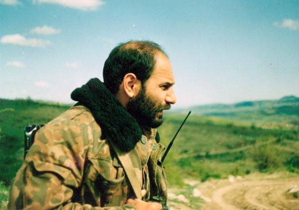 Один из лидеров войны за свободу Арцаха (Нагорного Карабаха) Монте Мелконян - армянин из американского Фресно