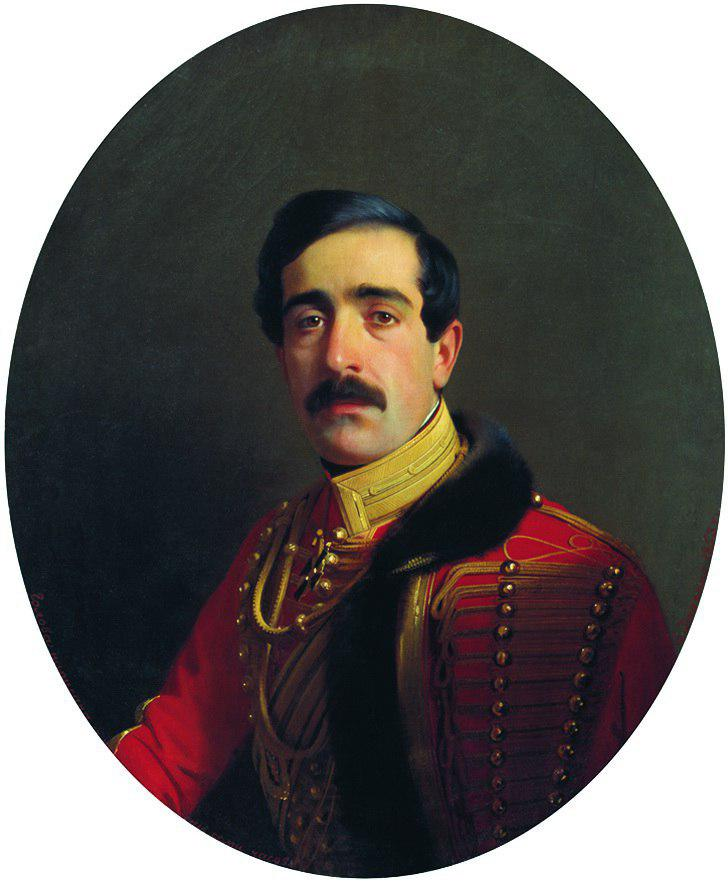 С.К. Зарянко. Портрет Семёна Давыдовича Абамелека, 1853