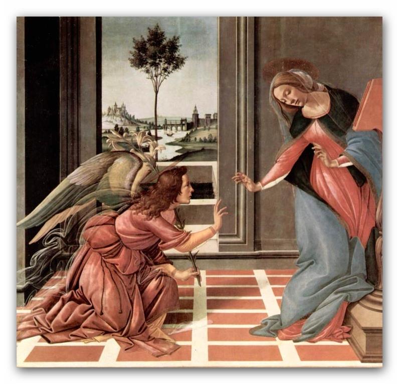 Сандро Боттичелли.«Благовещение Честелло»,1490