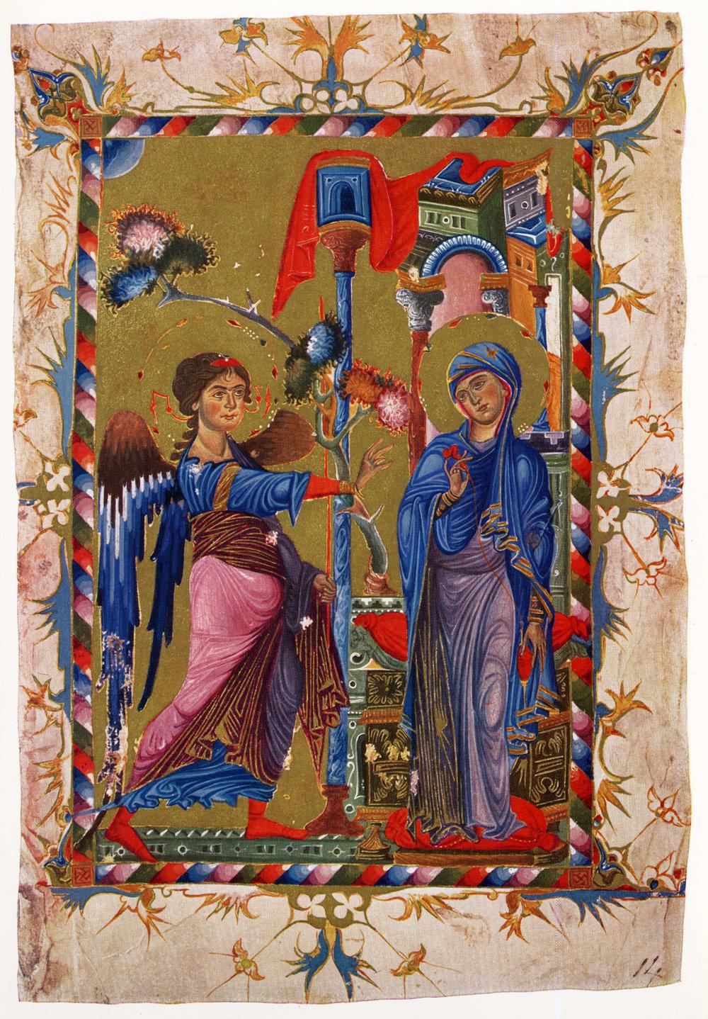 Торос Рослин. «Благовещение»,XIII век