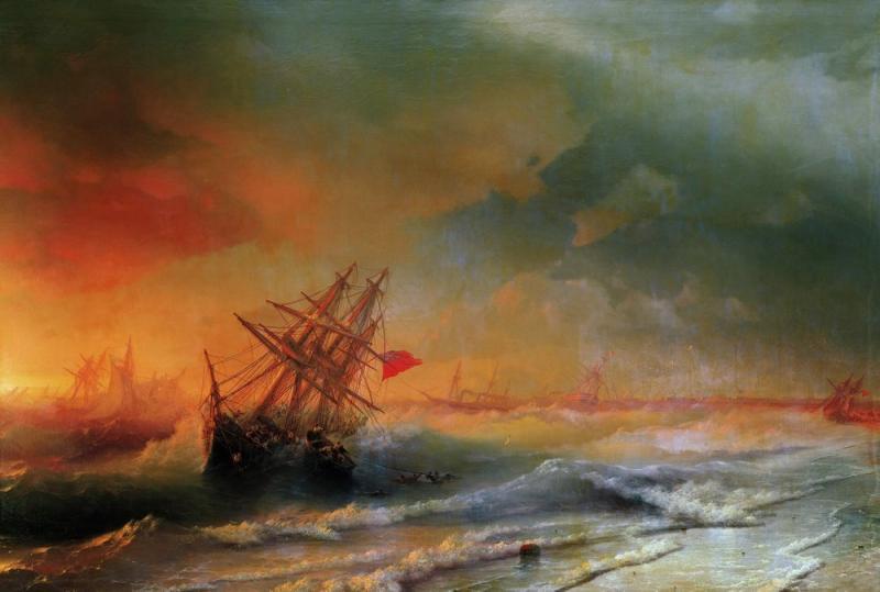 Иван Айвазовский.«Буря под Евпаторией»,1861