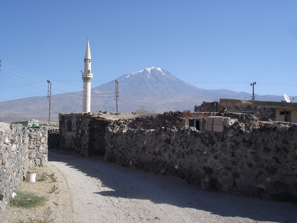 Вид Арарата из курдской деревни, близ Баязета, который сейчас называется Догубаязит..JPG