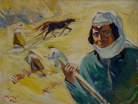 """Седрак Аракелян """"Снопы колхоза Гомадзор Ударница Егисабет"""" 1932, Национальная галерея Армении"""