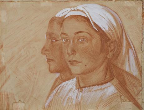 """Акоп Коджоян, """"Женский портрет"""", 1935, Национальная галерея Армении"""