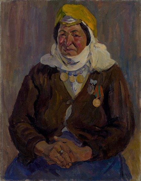 "Ерануи Асламалян ""Мать-героиня доярка Тамара Саакян"" 1946, Национальная галерея Армении"
