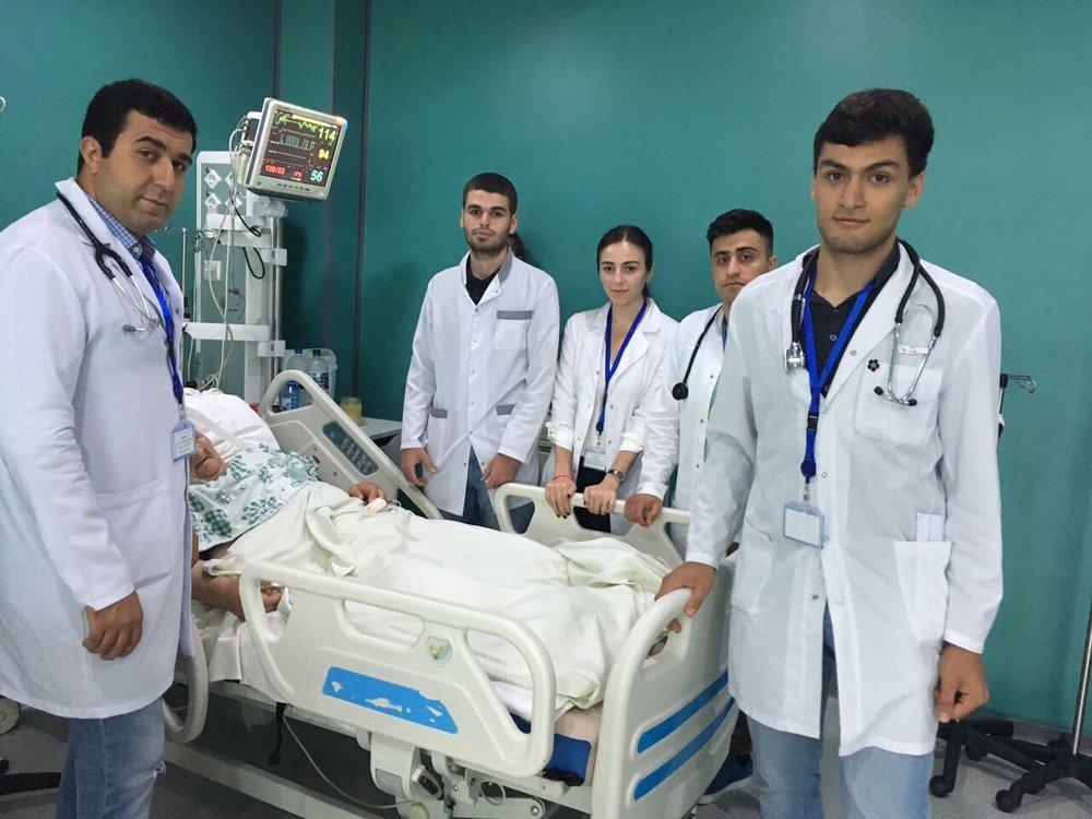 студенты армянского медицинского научного сообщества завершили волонтёрскую программу в Арцахе.