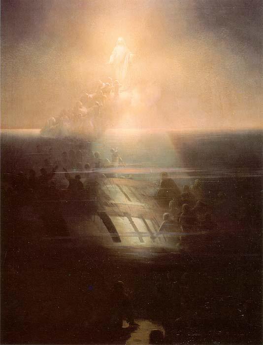 """И.К. Айвазовский. Гибель корабля """"Лефорт"""". Картина была создана в 1858 году, спустя год после большой трагедии."""