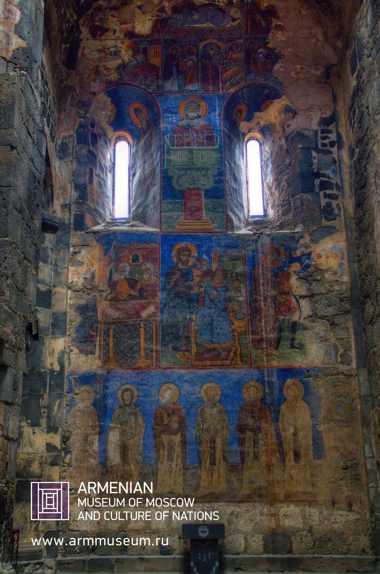....  Фреска монастыря Ахтала  ..  The frescoes of the Monastery of Akhtalа  ..  Աղթալայի վանքի որմնանկարները  ....