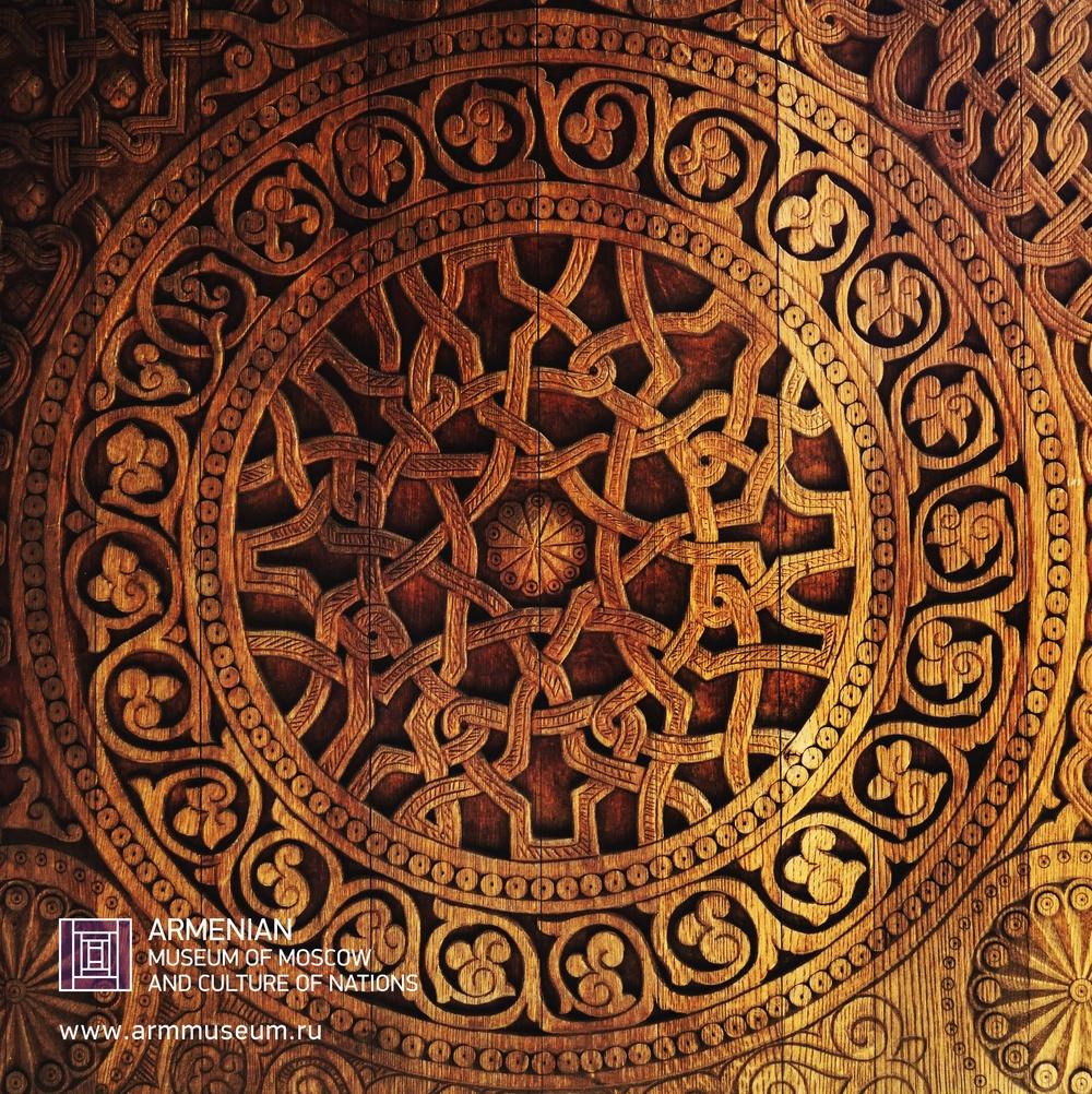 ....  Орнамент, резьба по дереву.  ..  Ornament, woodcarving  ..  Գեղանկար, փայտի փորագրում  ....