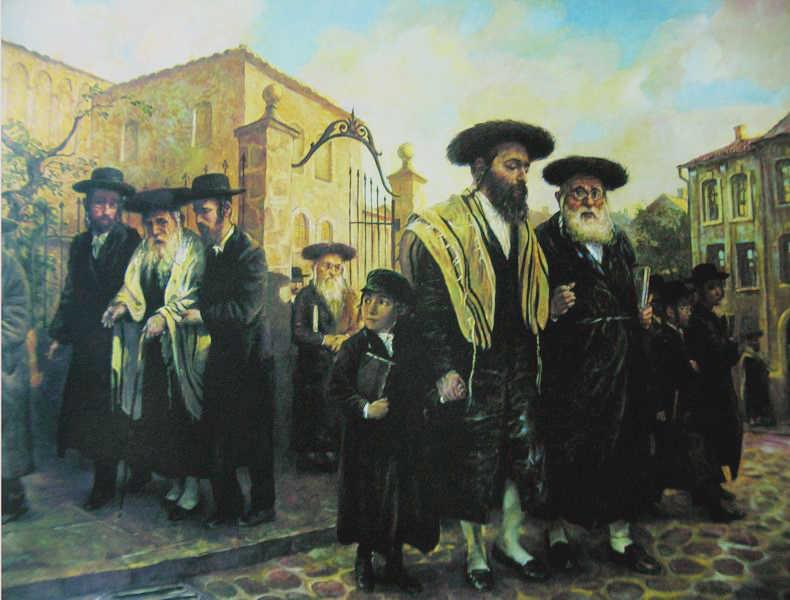 Выход из синагоги Лодзи. images14.fotki.com
