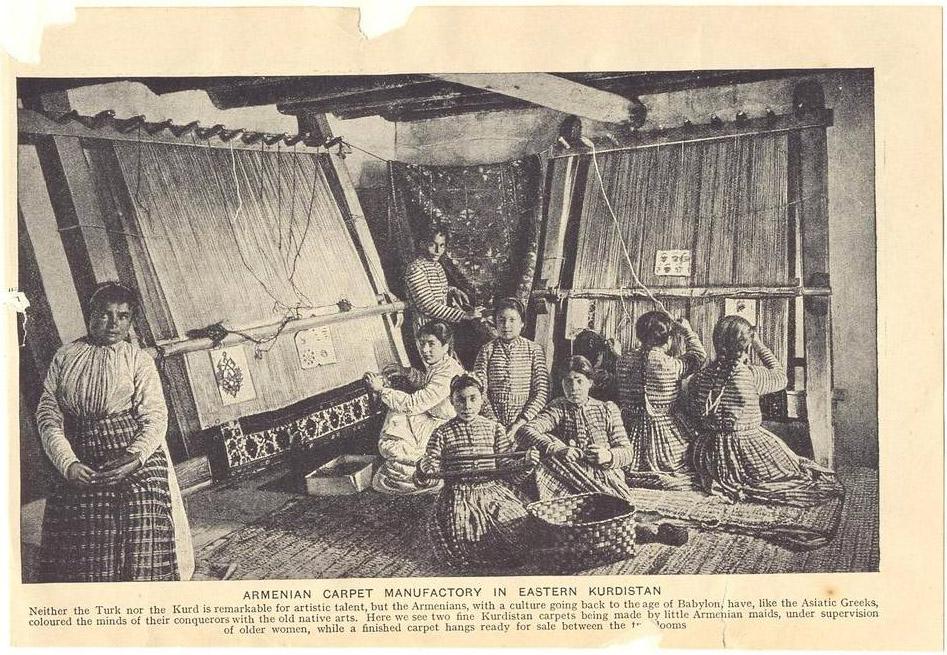 Армянские девочки ткут ковры на мануфактуре. фотоhistoryarmenians.files.wordpress.com