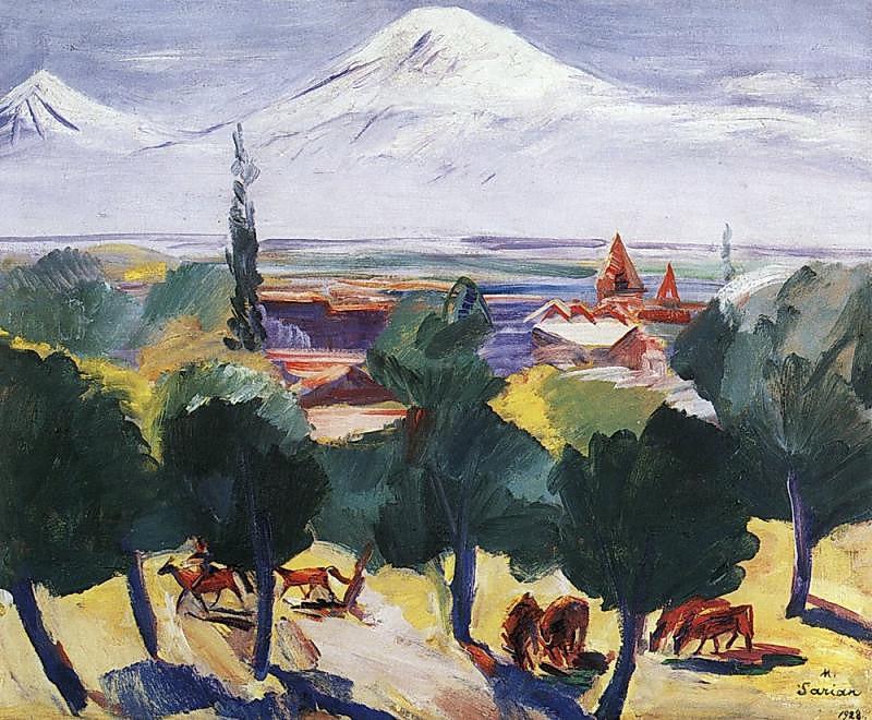 Мартирос Сарьян. Осенний мглистый день, 1928