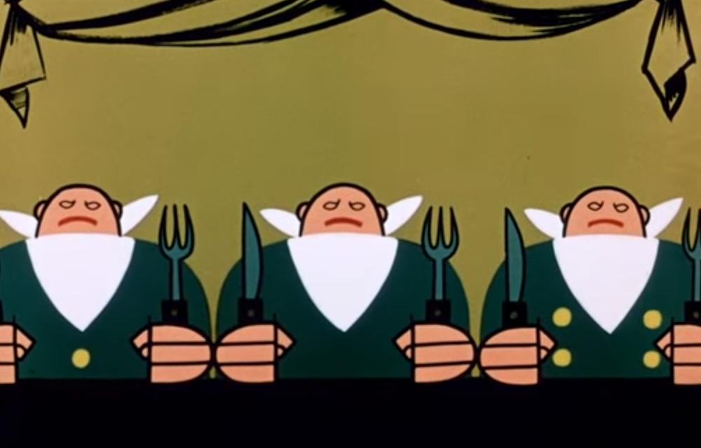 Сцена из мультфильма «Три толстяка»