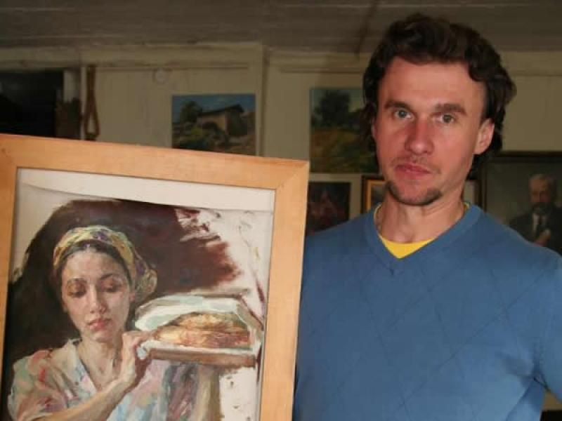 Сергей Марченко в своей московской мастерской. фото Валерии Олюниной