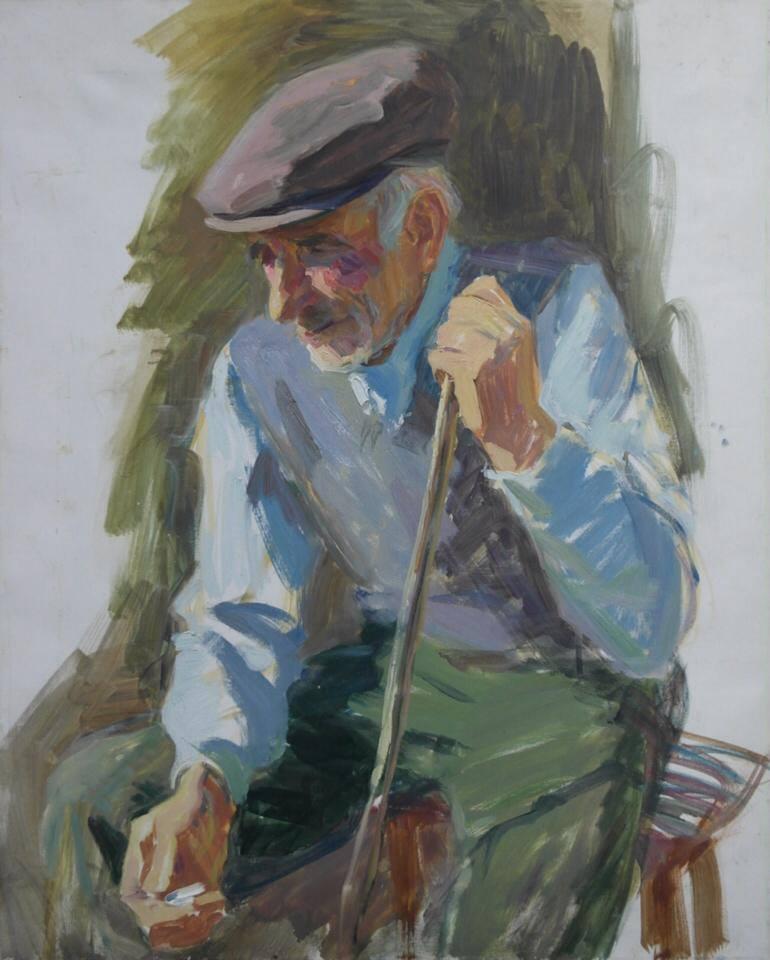 """Ветеран ВОВ""; х.м; 62/50 см"