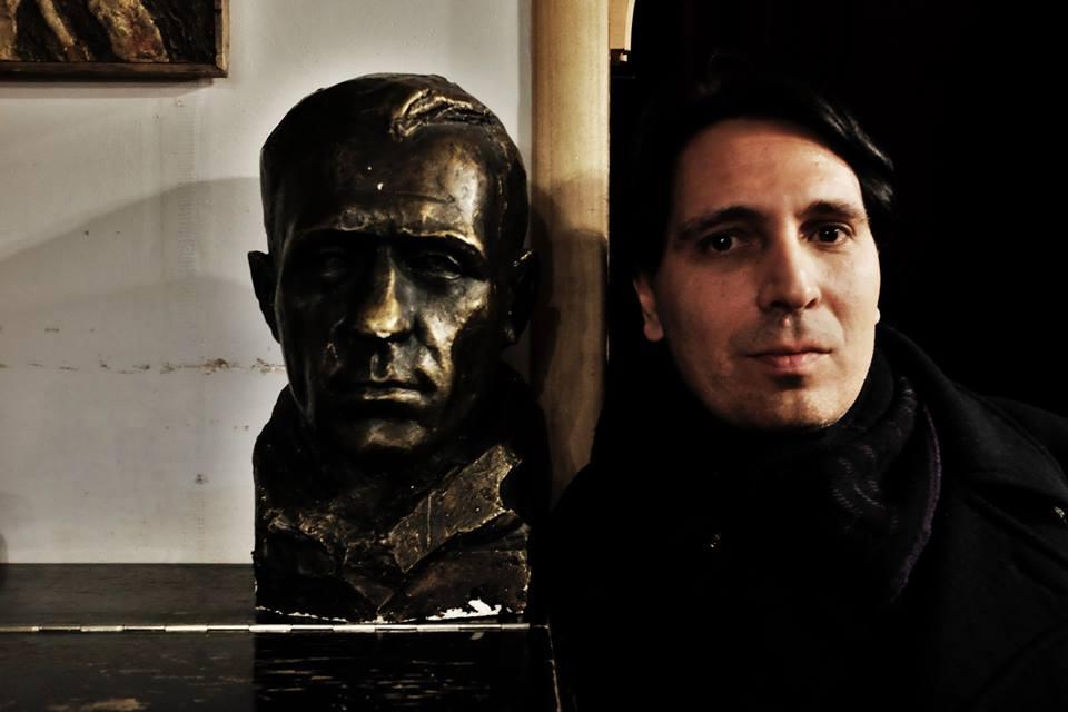Андроник Романов на творческом вечере в Булгаковском доме. Фотография Александра Барбуха