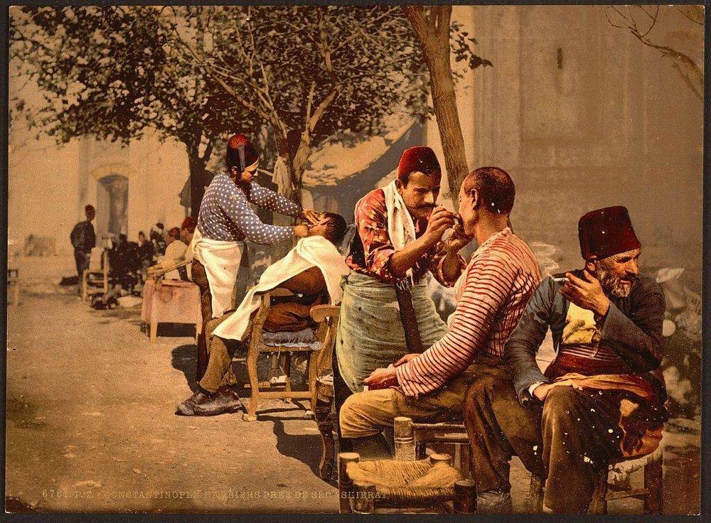 Стамбульские уличные брадобреи