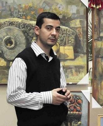 """Меружан Хачатрян """"Разные бывают мысли и готовность осуществить эти мысли преобразовывая их в картину""""."""