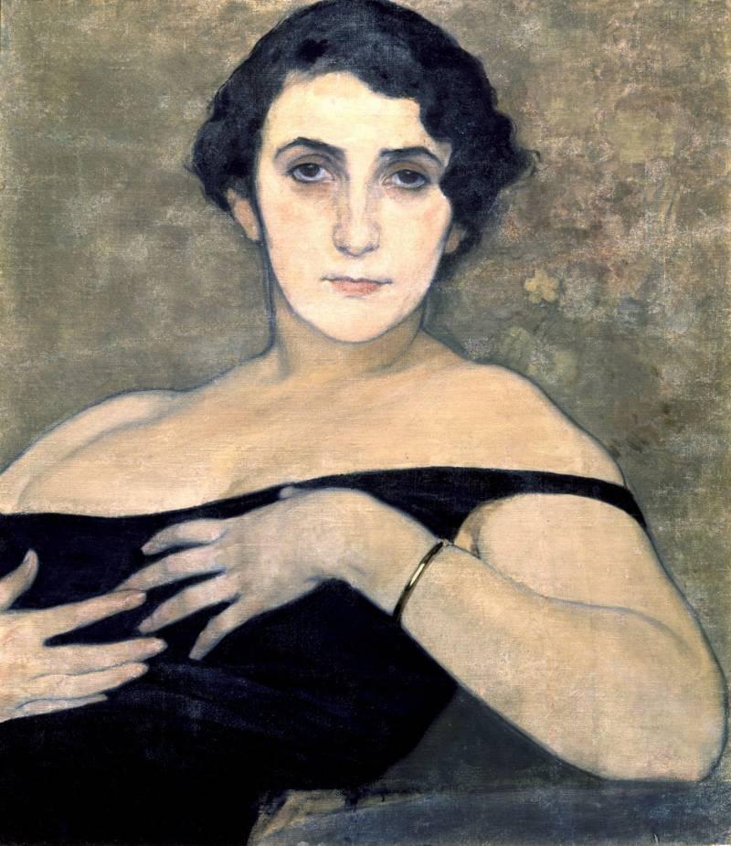 Николай Андреев.Портрет Т.Х. Дейкархановой,1910-е