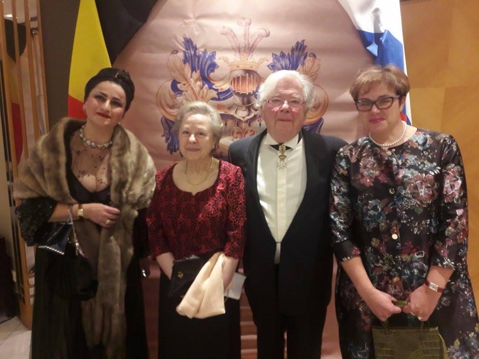 Арэна Агаджанян с руководителями Международного Фонда Александра Сергеевича Пушкина.