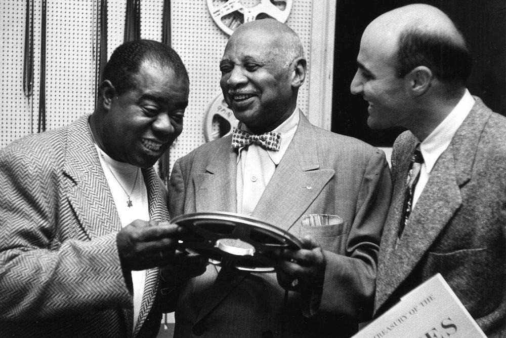 Луи Армстронг, УильямХэнди и Джордж Авакян.1954 год