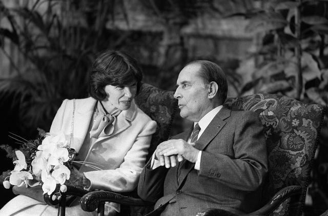 Даниэль и Франсуа Миттеран. Фотоportfolio.lesoir.be