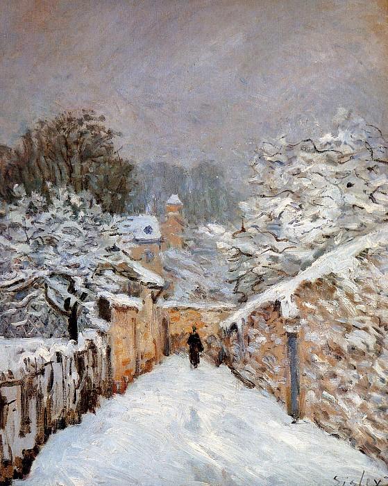 «Снег в Лувесьене» Альфреда Сислея.