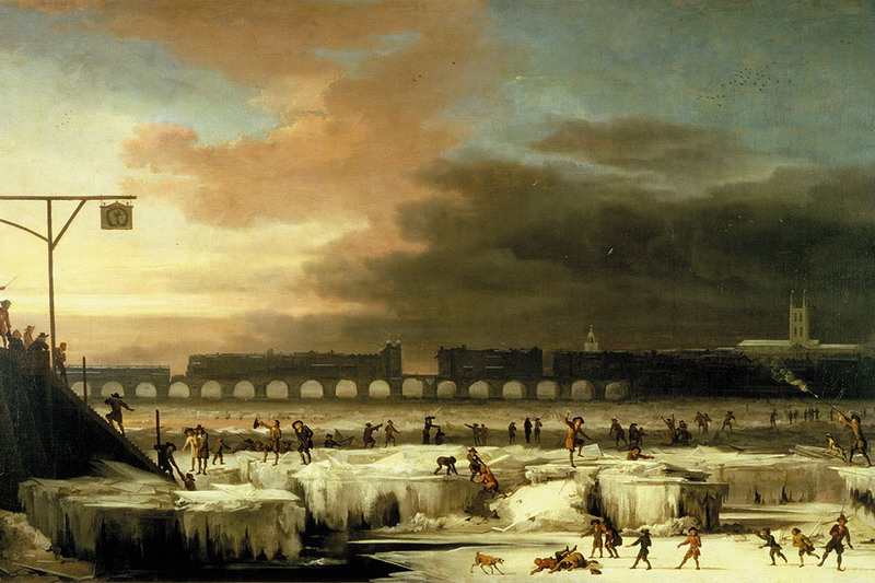 Замершая Темза голландского художника Абрахама Кондиуса