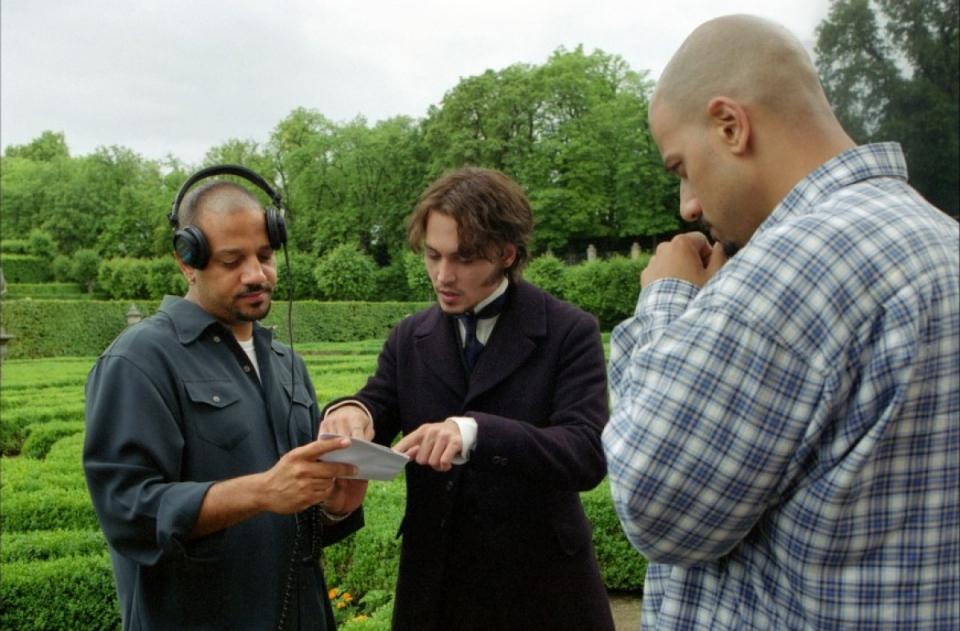 С Джонни Деппомна съемках фильма«Из ада»,Чехия ‖imdb.com