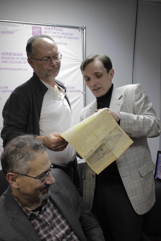 Архитекторы, исследовали наследия Александра Таманяна Арсен Мкртчян, Карен Бальян, Андрей Иванов